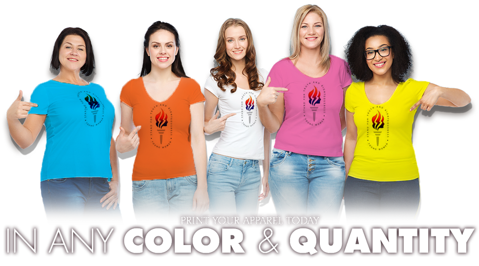 Screen printing embroidery in for On site t shirt printing
